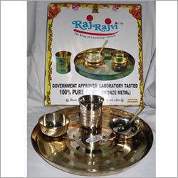 Brass Dinnerware Set