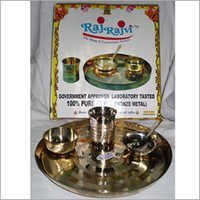 Brass Dinnerware Set