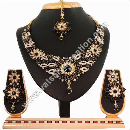 Black Stone Necklace Set