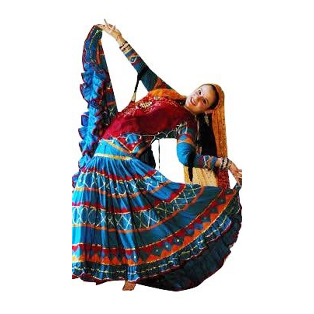 Red Blue Rajasthani Kalbelia Costumes