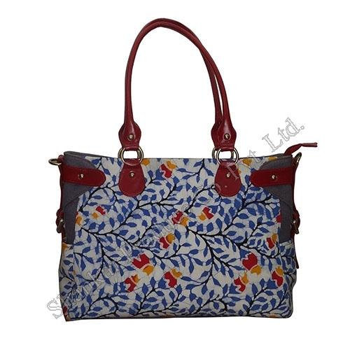 Tote Bag in Handmade Batik & Canvas