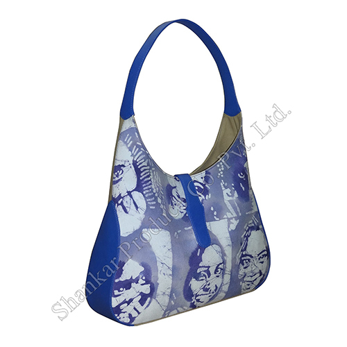 Handmade Batik Shoulder Bag with Leather combination