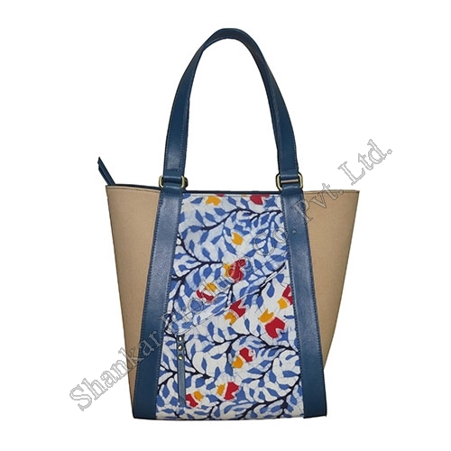 Canvas Tote with Leather Trims