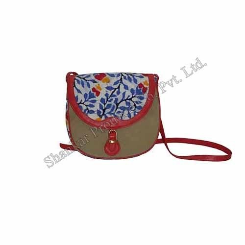 Canvas Sling Bag with hand Batik Print