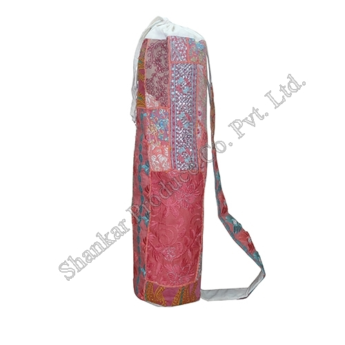 Tribal Embroidered Cotton Duffle Bag