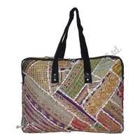 Hand Embroidered Cotton Tote Bag