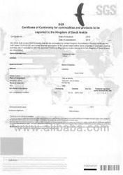 Export to Algeria_Certificates of Conformity (CoC) for goods