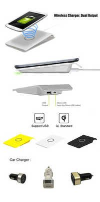 portable qi wireless charger for smart phone