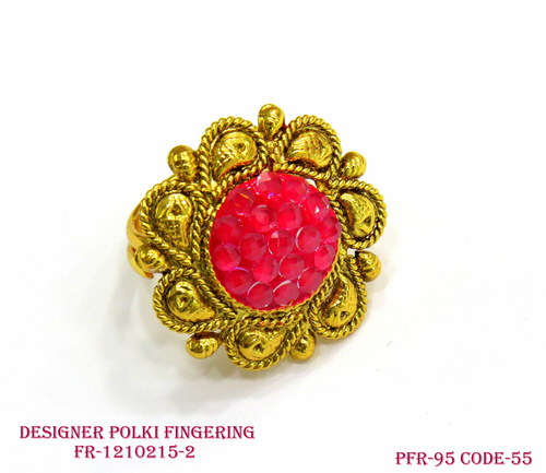 Polki Finger Ring, Design rings, Antique Ring