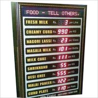 LED based Menu Display Board