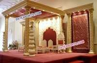 Wedding Golden Mandap Set