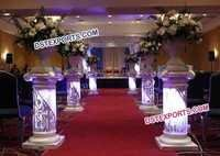 Wedding Aisleyway Crystal Pedestals