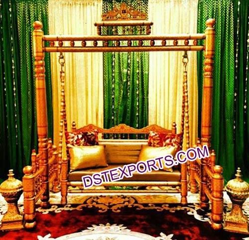 Indian Wedding Golden Swing Jhula