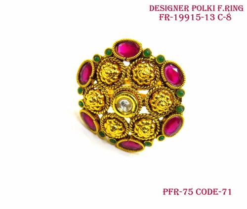 Designer Polki Finger Ring,Polki FingerRing ,Antique Ring,