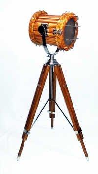 Nautical Teak Wood Spotlight Floor Lamp