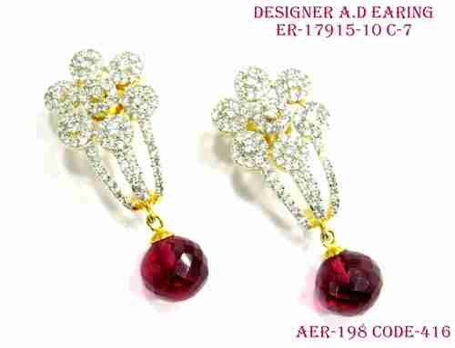 Designer Amercian Diamond Earring