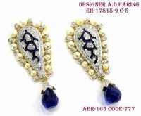 Designer A.D Earring,Small Pearl Around Earring