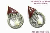 Designer A.D Earring,Small Diamond Around Earring