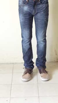 MENS DENIM SLIM FIT PANT