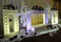 English Wedding Stage With Paded Backdrop Frames