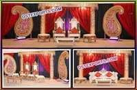 Wedding Fiber Crystal Pillar Paisley WeddingStage