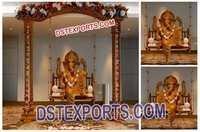 Wedding Decorated Ganesha Sitting on Swing
