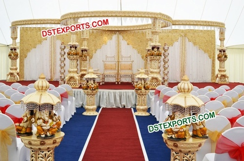 Ganesha Fiber Wedding Mandap Decoration