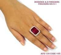 Designer Amercian Diamond Finger Ring