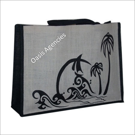 Printed Jute Beach Bags