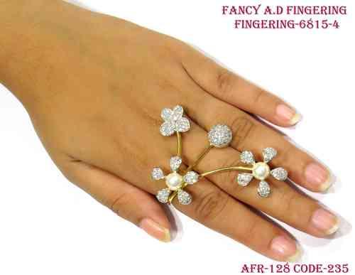 Designer Amercian Diamond Finger Ring