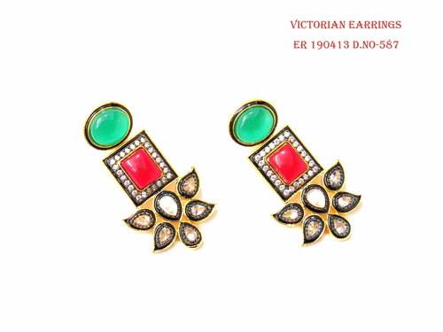 Exclusive Victorian Flower Earring