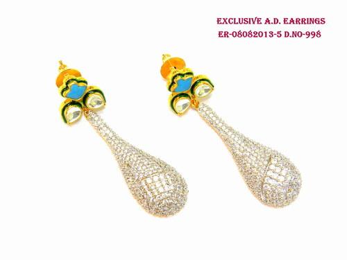 Designer American Diamond Earring