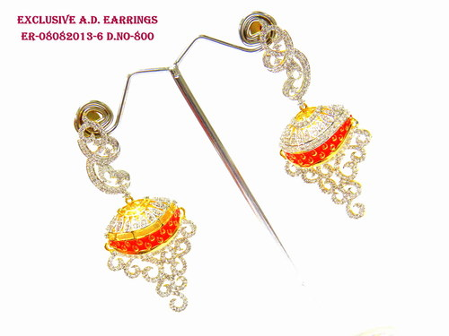 Designer A.D Earring,Diamond earring,Different Style Earring