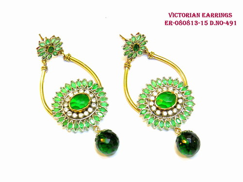 Exclusive Victorian Earring,Flower Earring