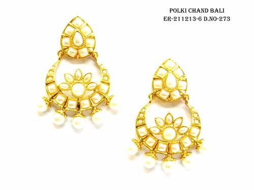Designer Polki Chand Bali