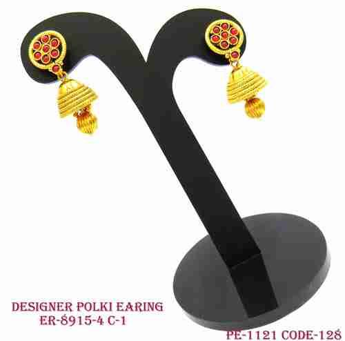 Polki Earring Flower Shape Top