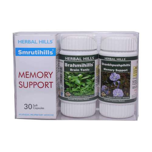 Ayurvedic Brain Tonic for Memory & Concentration - Smrutihills Combination Pack