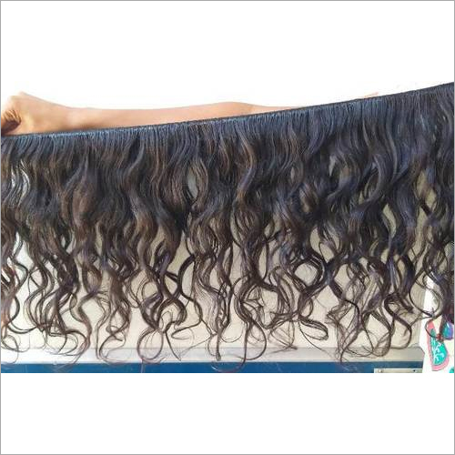Double machine wefts human hair