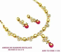 Designer Amercian Diamond Necklace,Diamond Necklace