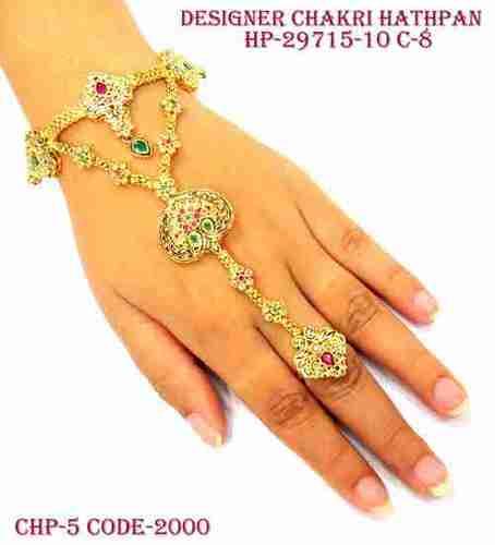 Kundan Middle Hand Finger