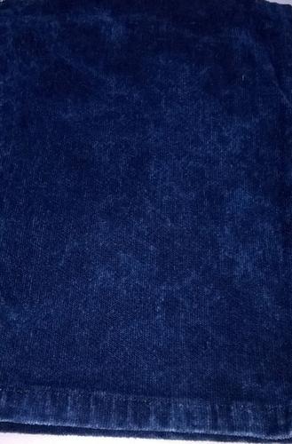 Wash Effect of Indigo Velvet Stretch