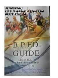 BP. Ed Guide (Semester -1)