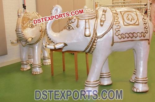 Wedding Entrance Elephant Fiber Statue