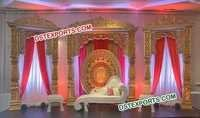 Bollywood Wedding Gold Stage Set