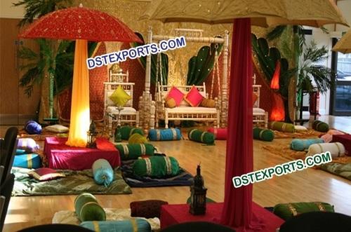 Muslim Wedding Sangeet Function Stage Set