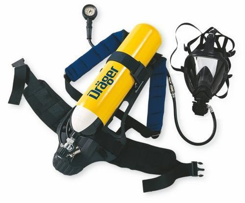 Draeger Breathing Apparatus with Carbon Composite Cylinder