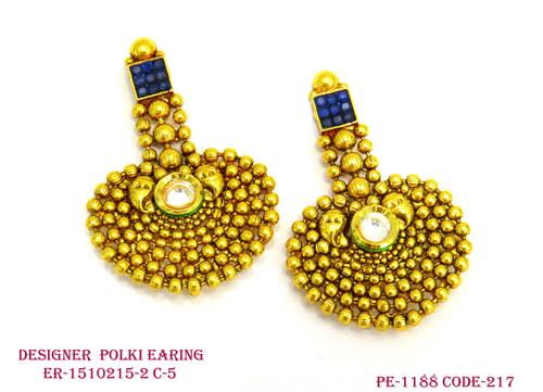 Designer Antique Polki Earring