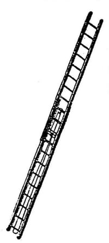Aluminium Wall Support Extension Ladder