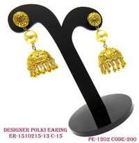Designer Polki Earring,Polki Earring,Antique Earring,Flower Shape Earring