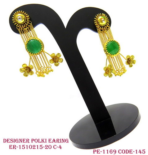 Designer Polki Earring,Polki Earring,Antique Earring,New Trend earring